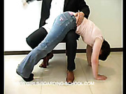 Spanking newcomer wants hard spanking now