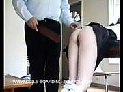 Headmaster beat young schoolgirl