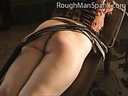Rough spanking of MILF