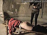 Psychotic bitch spanked blond chick