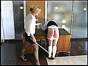 Hard caning in the secreatary's office