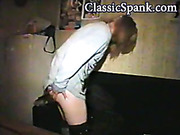 Stripped and spanked
