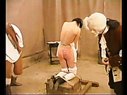 Brutal caning session for naughty maids