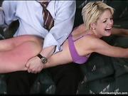 Three bitches practice spanking