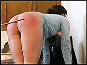 Long painful caning after school