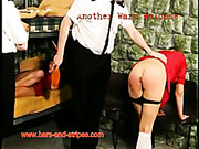 Guard spanked small bum of young prisoner