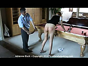 College hottie spanked and strapped for arguing