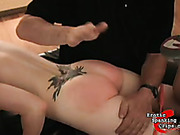 Spanked for slutty clothes