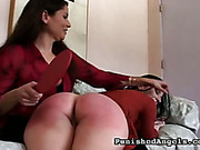 Painful spanking lesson for Ariel