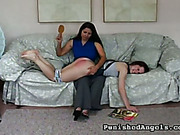Blonde suffered from spanking