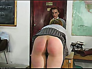 Schoolgirls watch each other getting caned