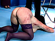 Caning of three women in front of audience