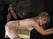 Four girls terrified with harsh spanking