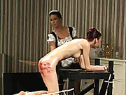 Maids spanked a woman