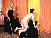 Merciless punishment for babre ass chick