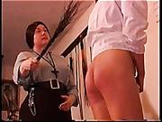 The elders spank babes to teach them modesty
