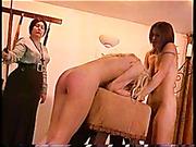 School babes got OTK spanking in correction school