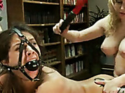 Headmistress punished girl with spanking and double fisting