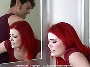 Hairbrush spanking for flame-haired Alison Miller
