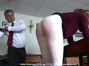 Fabulous creamy bare bottom whipping for stunning Helen