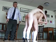Belinda and Helen stripped naked and strapped