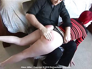 Alison Miller takes a series of spanking challenges