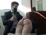 Tears from a spanking with the dreaded hairbrush for sexy
