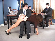 Mr. Woodley's secretary receives an over the knee spanking