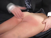 The lovely face of the lady being punished