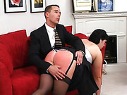 A carefree younger girlfriend is punished by her serious