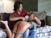 Samantha's 1st spanking
