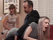 Violet Takes Nikki's Spanking For Her