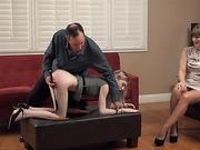 Violet Bends Over For More Punishment