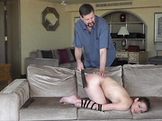 Ten Strapped and Paddled in Bondage