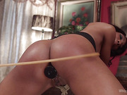 Dungeon Games: Bored femme dommes spank, whip and fuck to