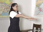 Schoolgirl Vandal gets Punished