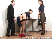 Hotel girls ready for slapping in pantyhose