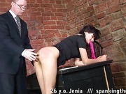 Begging for mercy at the spanking lesson