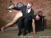 Disgracing pussy-rubbing after whip lesson