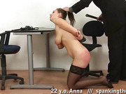 Busty bitch cries while getting whipped