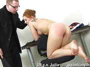 Teen rule-breaker spanked before masturbation