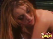 Submissive Blonde OTK Spanking