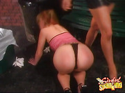 Submissive Blonde OTK Spanking