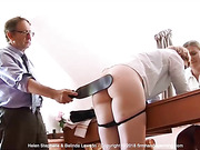 Pert bare bottom perfectly positioned, Helen Stephens is