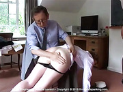 Helen Stephens on the receiving end of a resounding spanking