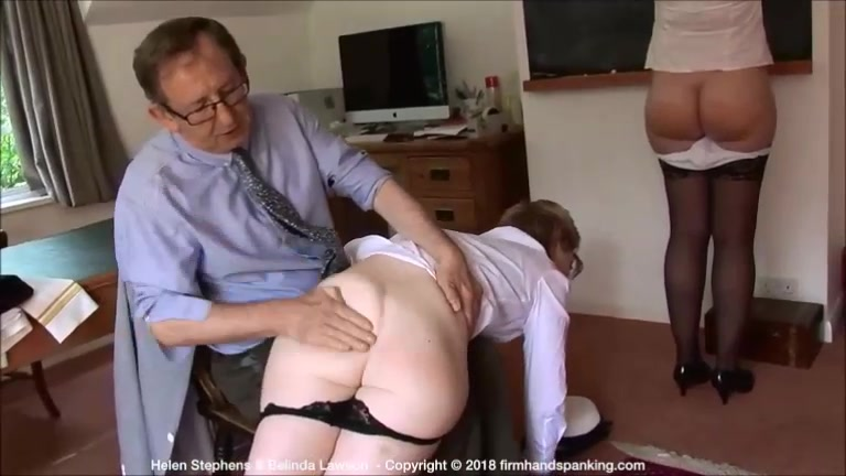 400-smack non-stop spanking turns Helen's bare bottom a bouncing red