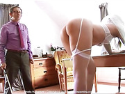 12 strokes of the cane, bare bottom, makes Amelia Rutherford
