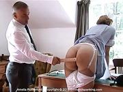 A medication error costs nurse Amelia a bare bottom spanking