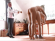 Belinda Lawson stripped naked and caned for theft -