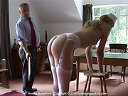 Bare bottom paddling for Amelia Rutherford in Doctor's